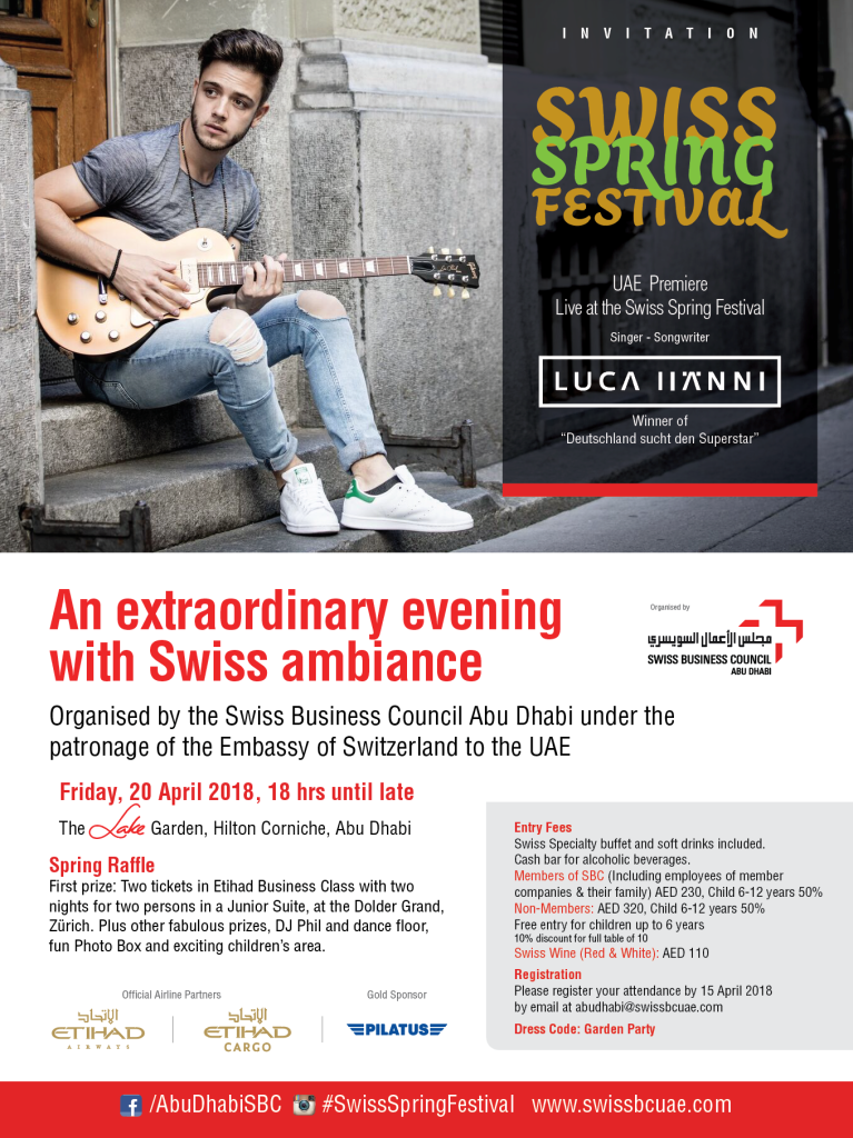 Invitation to Swiss Spring Festival 2018